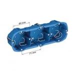 Boite cloison sèche - Schneider MULTIFIX - 3 Postes - Profondeur 40 mm - Diamètre 67 mm