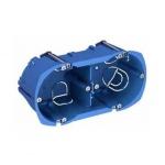 Boite cloison sèche - Schneider MULTIFIX - 2 Postes - Profondeur 40 mm - Diamètre 67 mm