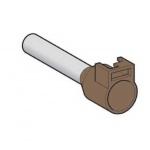 Embout de cablage - Répérable - 10 mm² - Brun - Schneider electric DZ5CA102