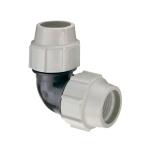 Coude à 90° - Pour tube PE - Diamètre 25 mm - Plasson 705025