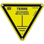 Triangle - Alu - TERRE DES MASSES - 100 mm - CATU AM-346