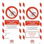 Affichette consignation - APPAREIL CONDAMNE-DEFENSE DE MANOEUVRER - CATU AP-461