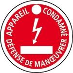 Disque - Plastique - APPAREIL CONDAMNE - 80 mm - CATU AP-467