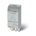 Module LED + diode - 6 à 24 DC - Pour socle - Finder 9902902499