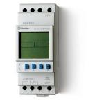 Horloge - Hebdomadaire - Digital - 1 contact 16A - Avec réserve de marche - Finder 129182300000