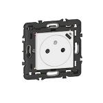 Prise de courant - 2P+T et USB C - Blanc - Legrand 077161L