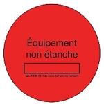 Bobine de 50 étiquettes - Rouge - Marquage Non étanche - EID Distribution 50ETIQROUGE