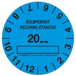 Bobine de 100 étiquettes - Bleue - Marquage étanche - EID Distribution 100ETIQBLEU