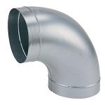 Coude en acier galvanisé - Diamètre 125 mm - 90 degrès - Atlantic 523521