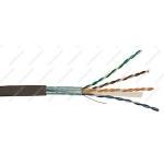 Câble RJ45 - CAT6 F/UTP - Résistant UV PE - Noir - Couronne de 100 mètres - GigaMédia C6F4PPEC1