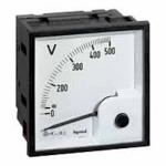 Ampèremètre analogique à fût carré - 68 x 68 mm - 0 / 5A - Legrand 014601