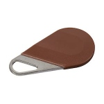 Badge de proximité - Système Hexact - Type porte clé - Marron - Aiphone HECV2M