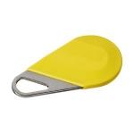 Badge de proximité - Système Hexact - Type porte clé - Jaune - Aiphone HECV2J