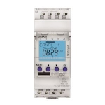 Interrupteur horaire - Digital - 24H / 7J - 2 modules - 2 Contacts - 230V - Compatible Obelis - Theben 6120403