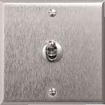 Bouton poussoir à levier - 6A - Arnould ART - Mémoire - Acier Brossé - Arnould 67115