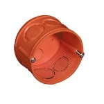 Boite à sceller - Capri CAPRIBOX J12 - Profondeur 38 mm - Diamètre 64 mm - Avec vis - Orange - Capri 710999