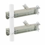 Fixation Double Mat - Diamètre 30 à 50 mm - Zinc Blanc - Erard 802604