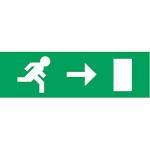 Etiquette pour boitier A-AA-AB-B-D-E-F-N-T - 230 x 70 - Picto Flèche Horiz vers la droite  - Luminox 10403