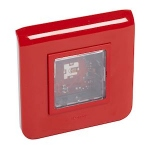 Dispositif visuel d'alarme feu DVAF 2Cd - Avec flash rouge - Encastré - URA 367300