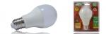 Ampoule à LED COB - Vision-EL - E27 - 12W - 6000K - G65 Bulb - Dépolie - Blister