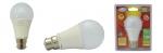 Ampoule à LED COB - Vision-EL - B22 - 12W - 3000K - Bulb - Dépolie - Blister