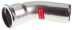 Coude à sertir 45° - Tube Acier Electrozingué - Mâle / Femelle 35 mm - Comap Xpress