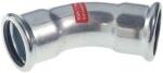 Coude à sertir 45° - Tube Acier Electrozingué - Femelle / Femelle 15 mm - Comap Xpress
