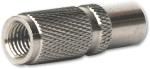 Fiche métallique mâle 9.52mm à visser sur câble 7mm, lot de 5