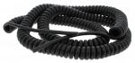 Cable spiralé 3G1 mm longueur 5 mètres Noir