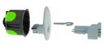 Kit point lumineux cloison sèche diamètre 67 mm Bizline R'Box + Douille DCL E27