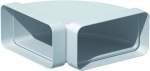 Coude Plat PVC rigide - 90 Degrès Horizontale - 40 x 110 mm