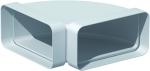 Coude Plat PVC rigide - 90 Degrès Horizontale - 55 x 110 mm