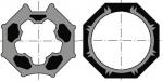 Jeu roue + Couronne - Pour moteur diamètre 50 - Pour tube DEPRAT F5860 OCTO60 SELVE DO - Somfy 9410332
