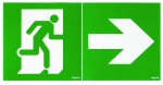 Kit de 2 étiquettes d'évacuation amovibles pour BAES d'évacuation ECO Legrand