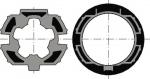 Jeu roue + couronne - Pour moteur diamètre - Pour tube ZF64 RECENTRE - A l'unité - Somfy 9410400