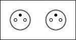 Prise de courant - 2 x 2P+T - Série ART - Epure - Acier brossé - Arnould 67432