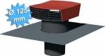 Chapeau de toiture plastique tuile diamètre 125 mm