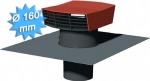 Chapeau de toiture plastique tuile diamètre 160 mm