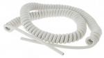 Cable spiralé 3G1 mm longueur 3 mètres Blanc