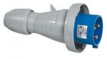 Fiche mobile droite mâle - 32 Ampères - 2P+T - IP67 - Bleu - Legrand 555434