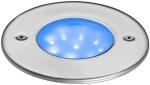 Applique de sol encastrée à LED 24V 1.5W bleu en inox Aric Ego R