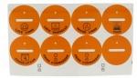 Etiquette pour l'identification des prises de courant - Lot de 8