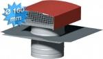 Chapeau de toiture métallique ardoise diamètre 160 mm