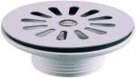 Bonde à grille - 40 x 49 - Diamètre 60 mm - En plastique / Inox - Sans trop plein - Valentin 70010000000