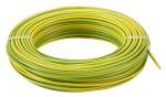 Fil rigide H07-VR 1 x 10 mm² - Vert Jaune  - Au mètre