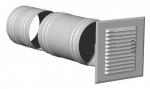 Grille de prise et rejet d'air alu 165x165 mm manchon D125