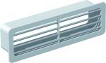 Grille extérieure pour conduit Plat PVC rigide - 55 x 220 mm
