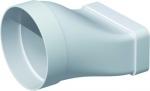 Manchon plat PVC rigide - Rectangulaire 55 x 110 mm vers Rond 100 mm