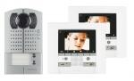 .Kit vidéo couleur Polyx Memory platine saillie 2 appels