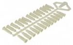 Cheville polypropylène - 6 x 25 mm - Spit ARPON 6 - Sachet de 100